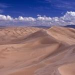 """Khongoriin Els """"Singing"""" sand dunes, Gobi desert, Mongolia"""